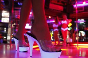 Beautiful dancers at Cheetahs strip club