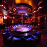 Stunning picture of the stripper pole at treasures of las vegas