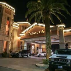 Outside Treasures strip club in Las Vegas. https://viplasvegasentertainment.com